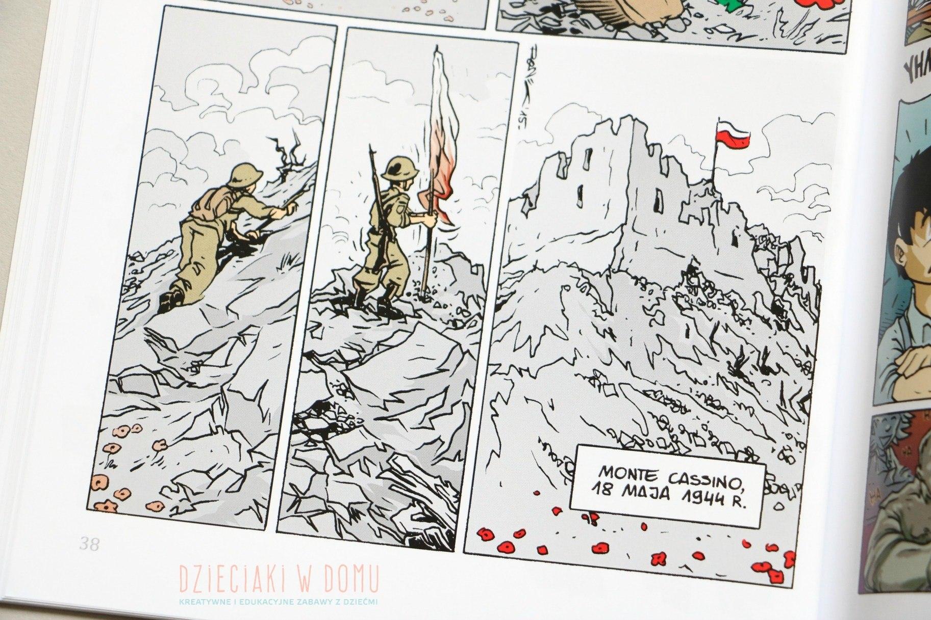 wojenna odyseja antka srebrnego - komiks historyczny dla dzieci