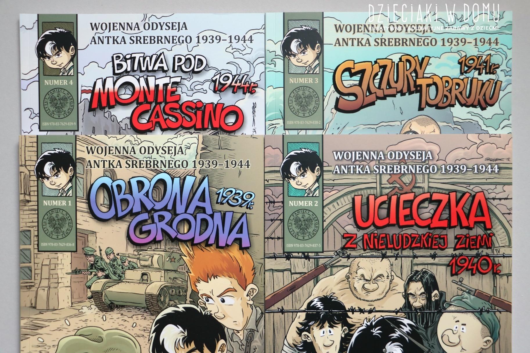 wojenna odyseja Antka Srebrnego - komiks