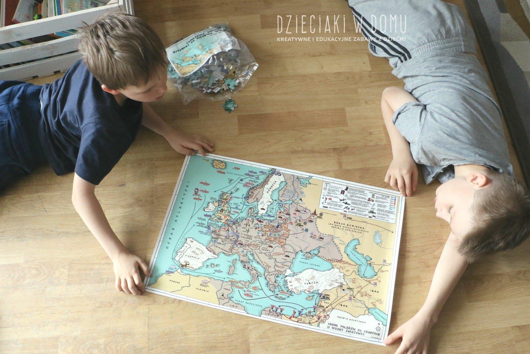 wojenna odyseja antka srebrnego - puzzle historyczne dla dzieci