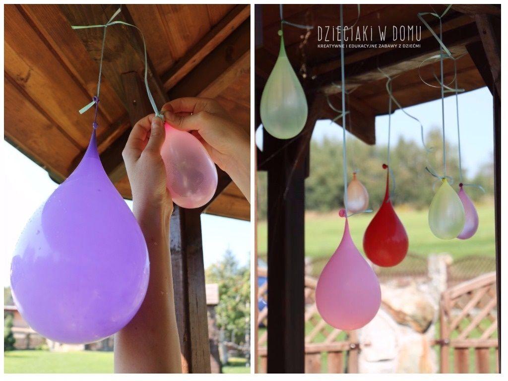 zabawa balonami na wode