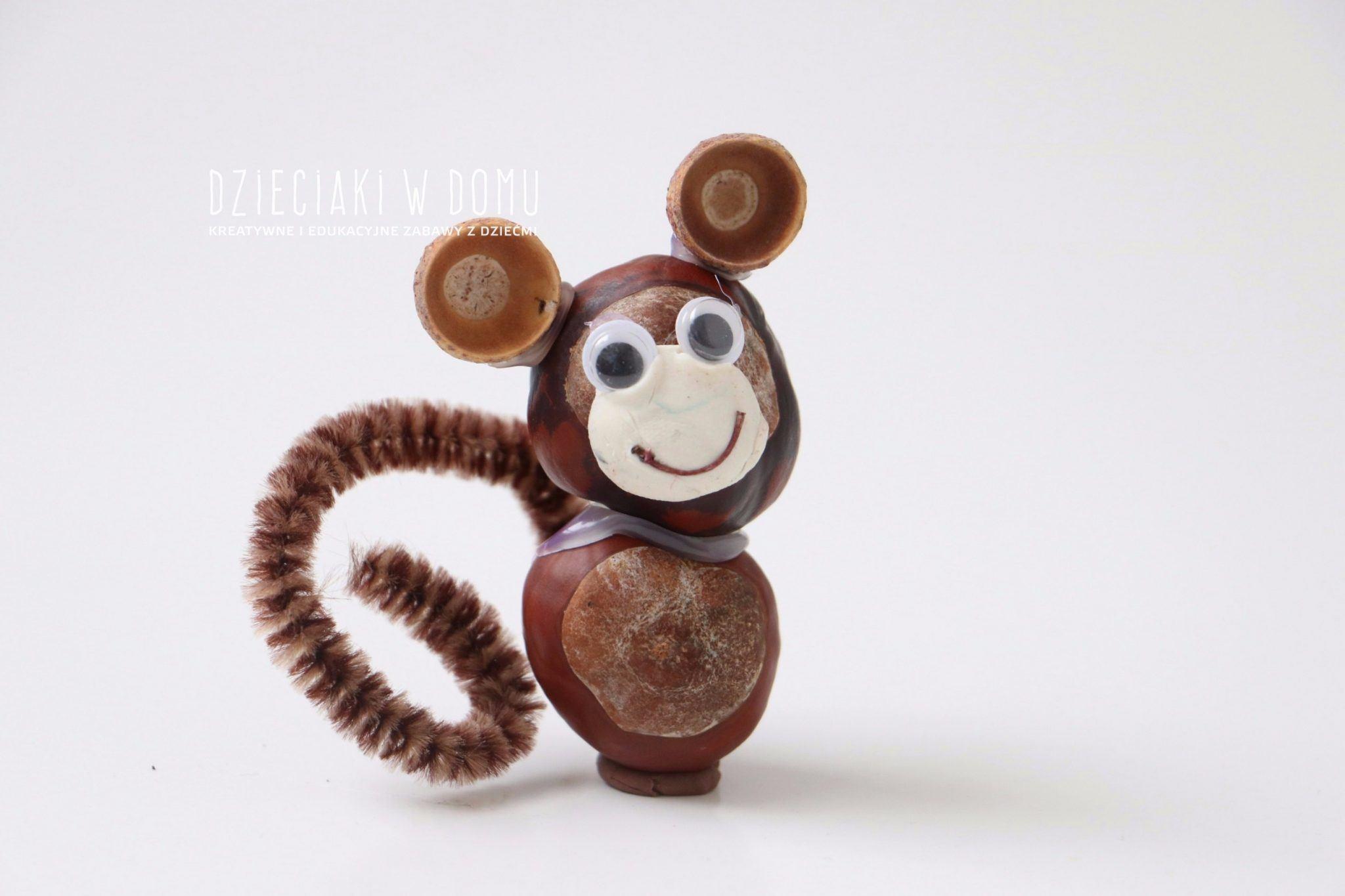 zwierzątka z kasztanów - małpka