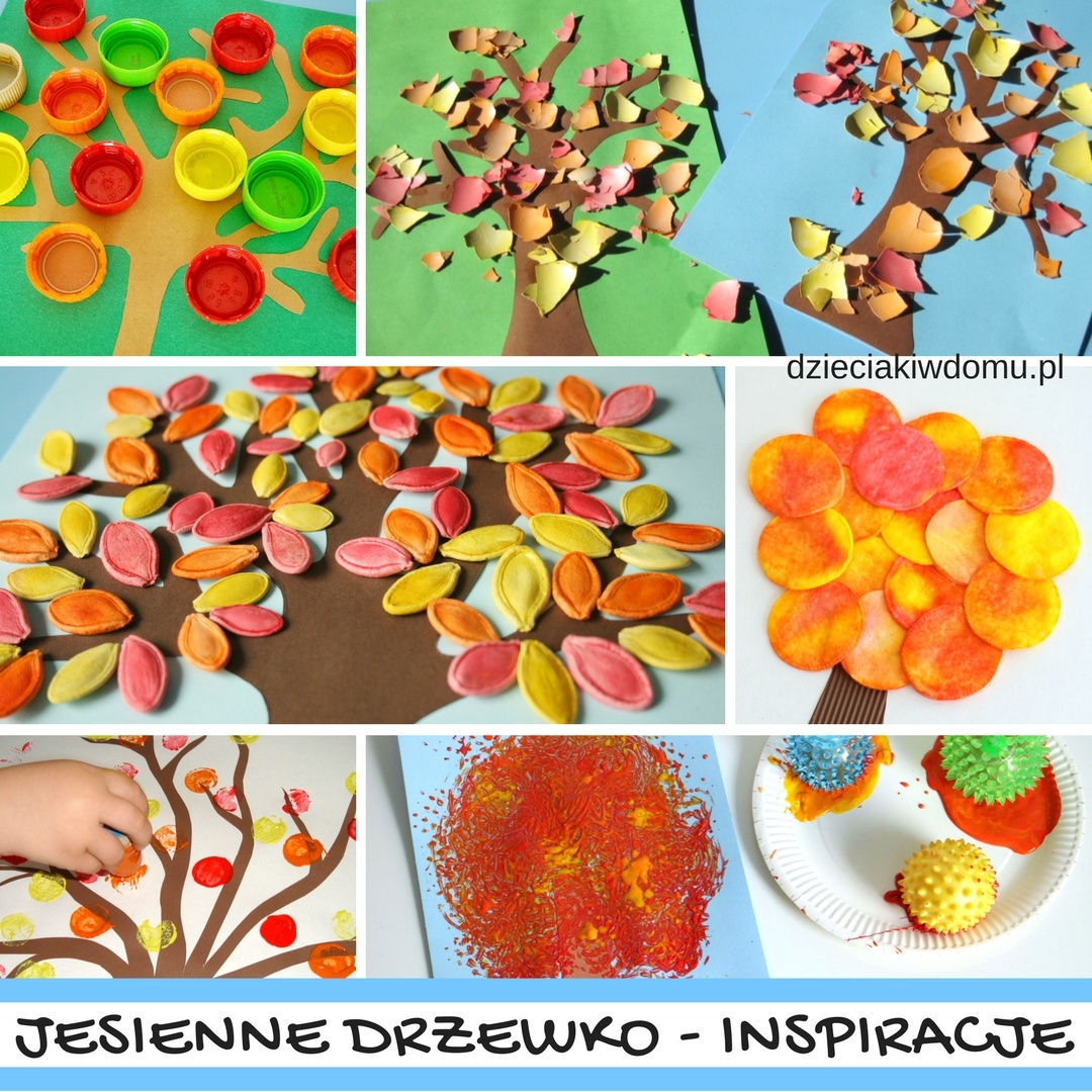 Jesienne drzewko - pomysły na prace plastyczne dla dzieci - Dzieciaki w domu