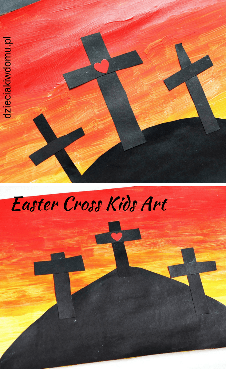 easter cross kids art