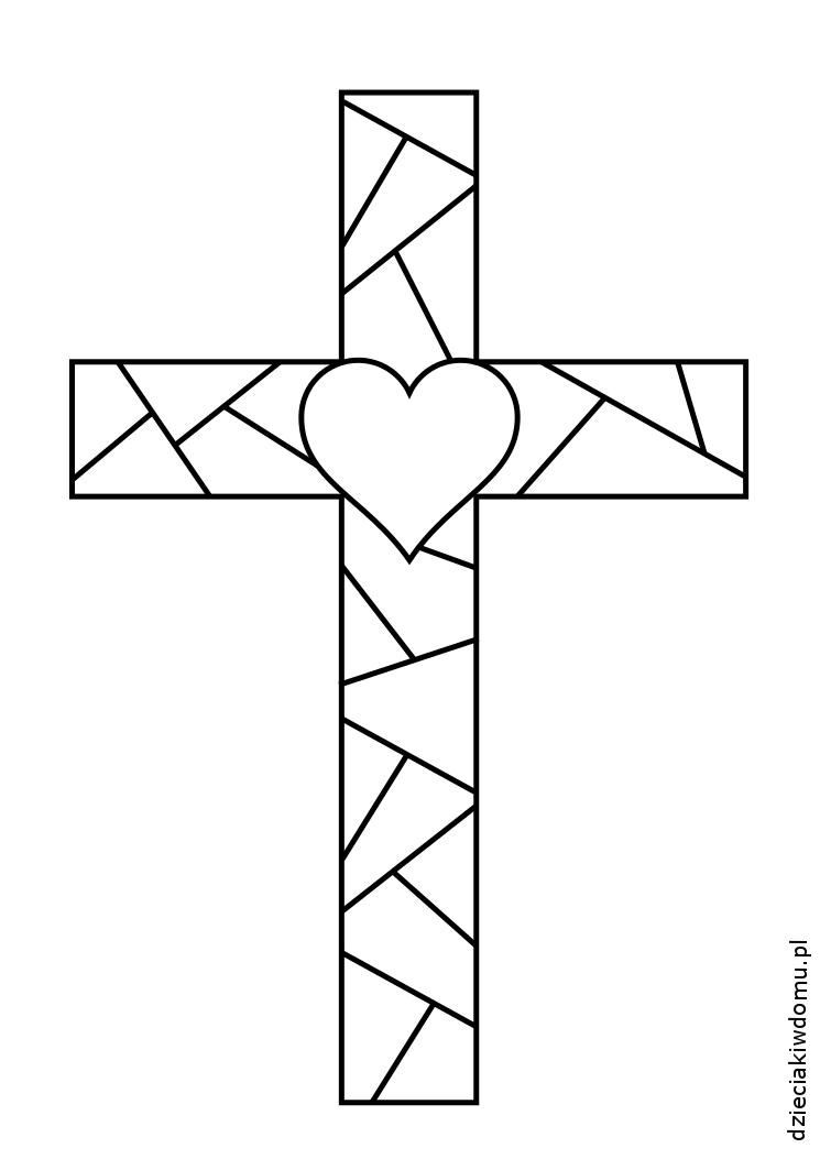 szablon krzyża