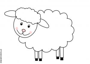 owca - szablon dzieciaki w domu