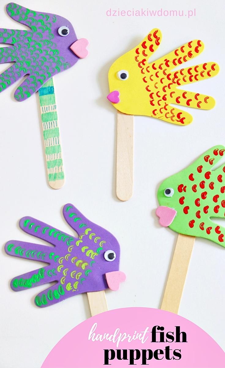 fish puppet dzieciaki w domu 1b